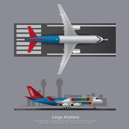 Avião de carga avião isolado ilustração vetorial vetor