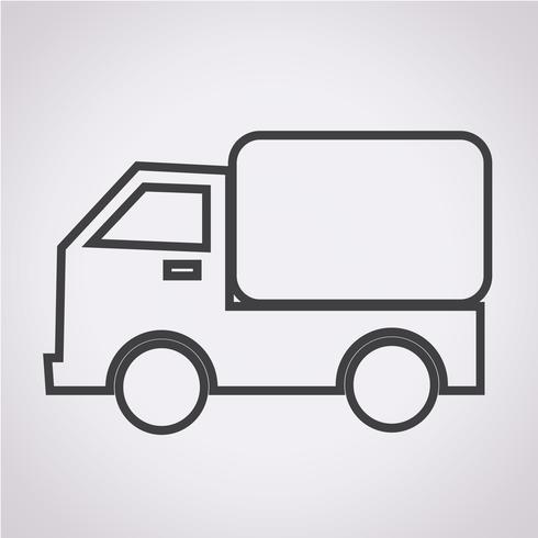 Ícone de caminhão de carro vetor