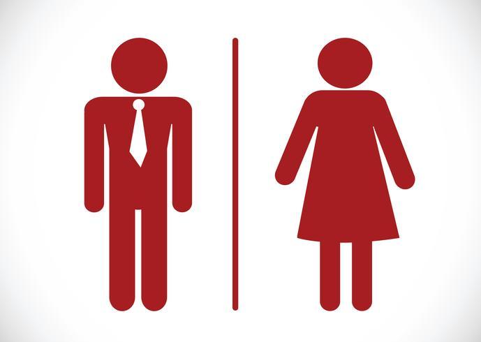 Ícone de banheiro e pictograma homem Mulher de sinal vetor