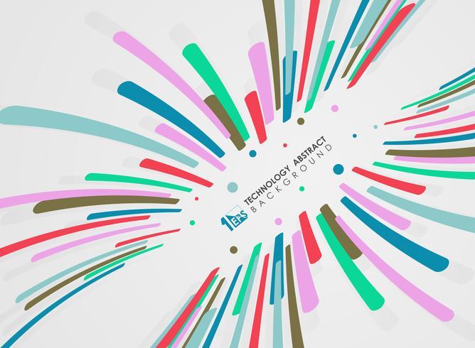Teste padrão abstrato das linhas da listra do projeto colorido do movimento. vetor
