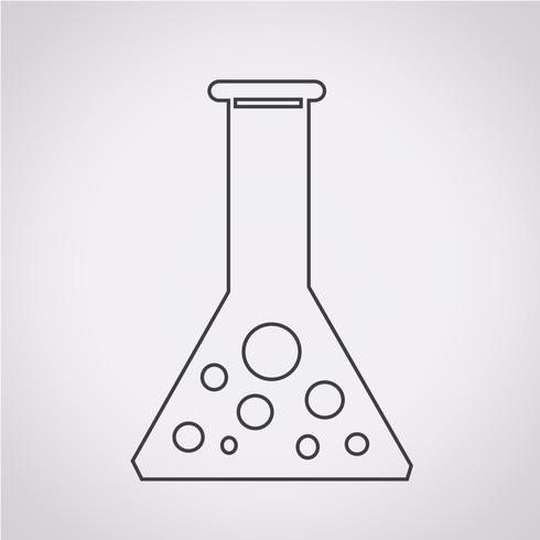 ícone de tubo de ensaio vetor