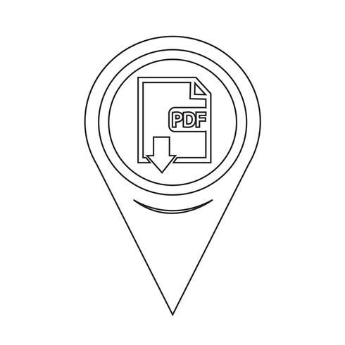 Ponteiro de Mapa PDF icon vetor
