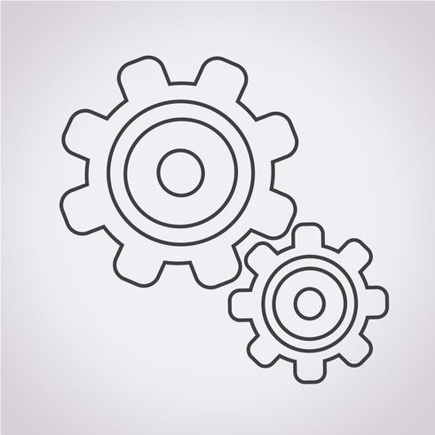 Engrenagem, símbolo, sinal símbolo vetor