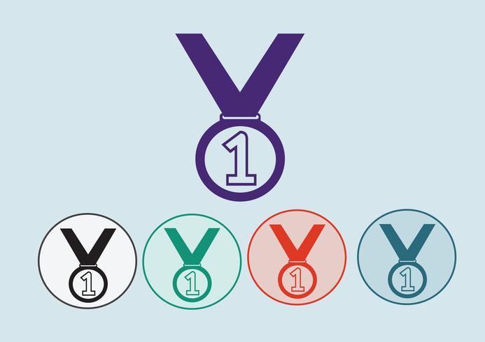 Conjunto de ícones de medalha vetor