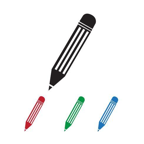 Lápis ícone símbolo sinal vetor