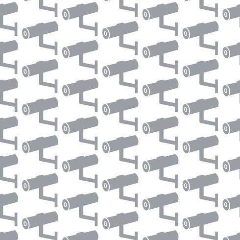 fundo de padrão de ícone de CFTV vetor