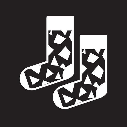 Sinal de símbolo de ícone de meia vetor