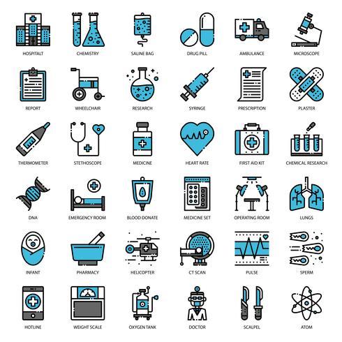 Cuidados de saúde e médicos vetor