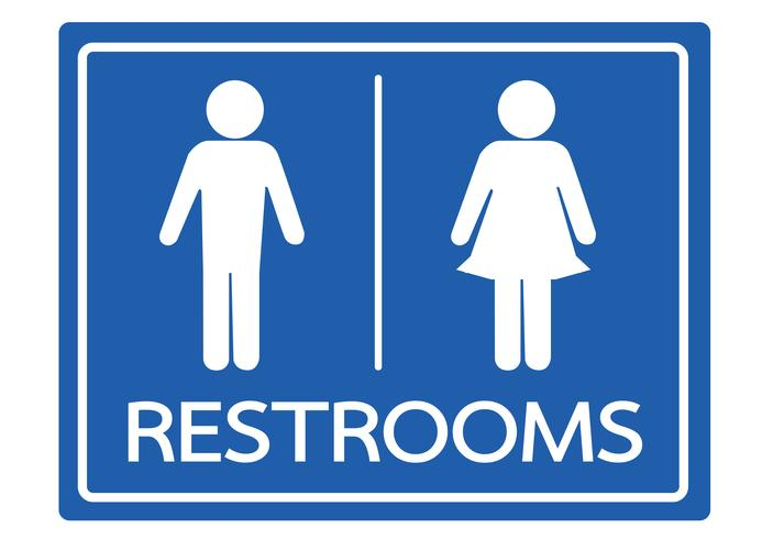 Símbolo de banheiro masculino e feminino ícone vetor