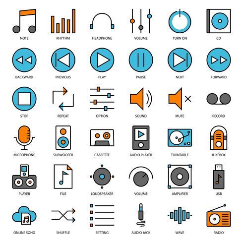 interface de usuário de música vetor