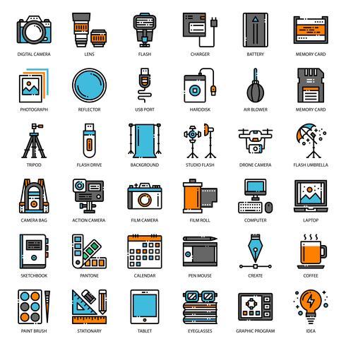 Gadget de fotógrafo e designer vetor