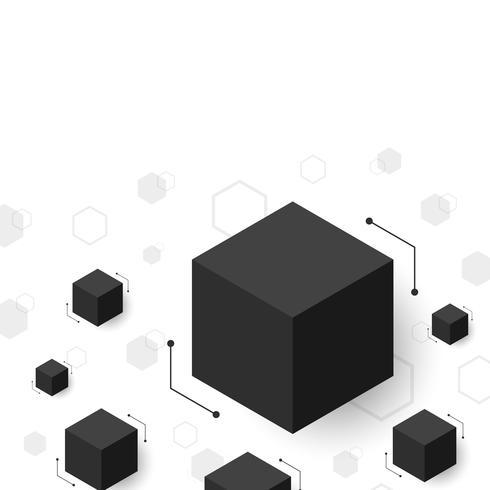 fundo moderno do hexágono vetor