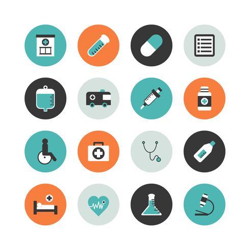 conjunto de ícones do hospital vetor