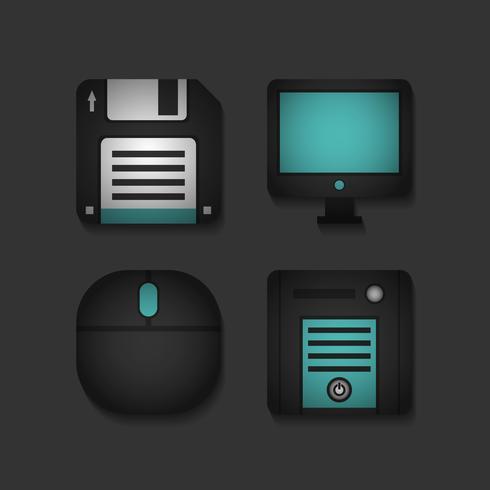 ícone de aplicativo de computador vetor