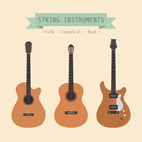instrumento de cordas retro vetor