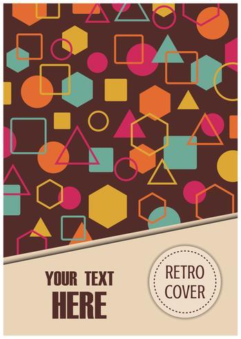 design retro flyer vetor