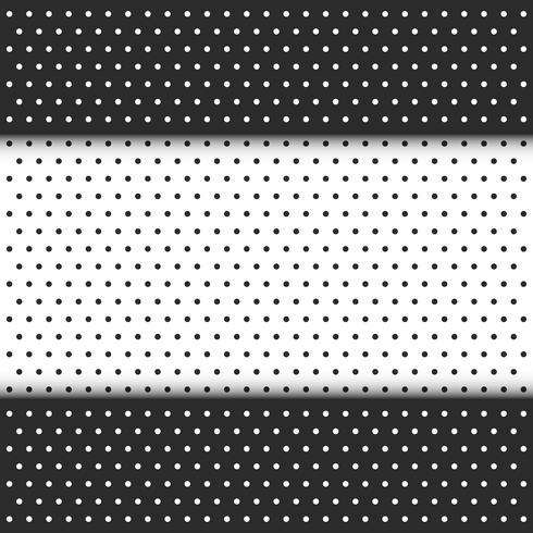 bolinhas preto e branco vetor