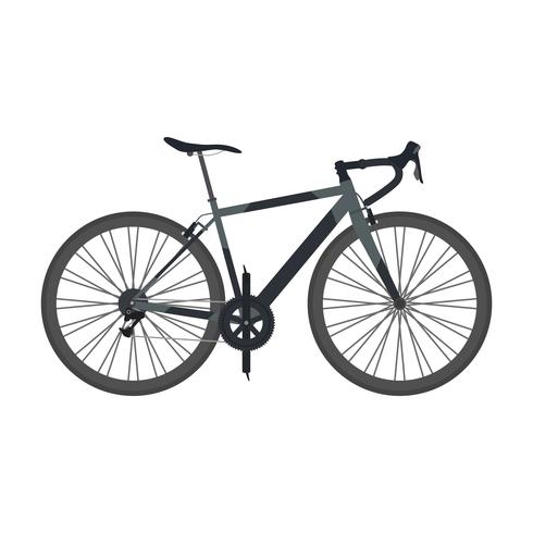 bicicleta de estrada preta vetor