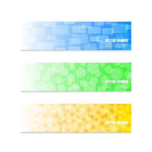 conjunto de banner colorido vetor