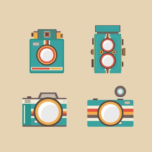 ícone de câmera retro vetor