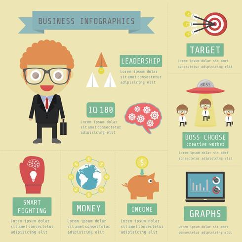 ícone de infográfico de negócios vetor