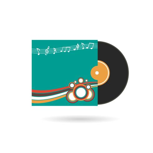 registro de cd com capa vetor