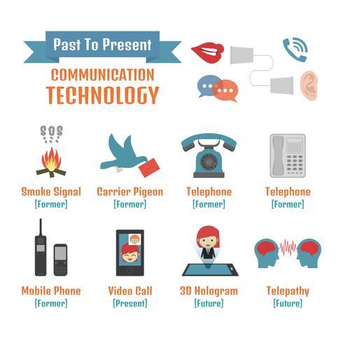 infográfico de tecnologia de comunicação vetor