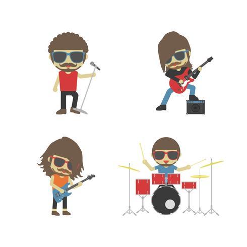banda de músico de rock vetor