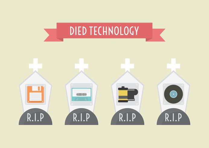 morreu retro tecnologia vetor