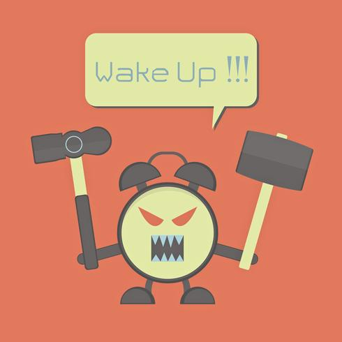 despertador com raiva vetor