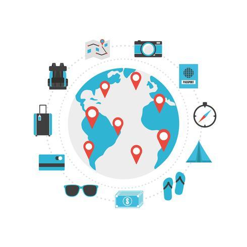 ícone de viagens do mundo vetor