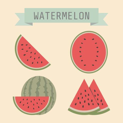 ícone de melancia retrô vetor