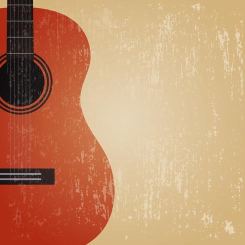 guitarra clássica do grunge vetor