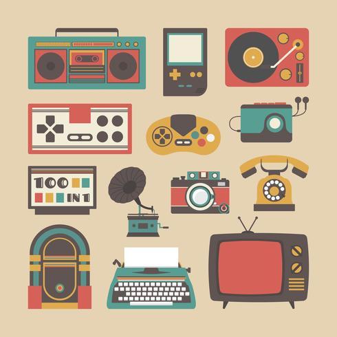 ícone de gadget antigo vetor
