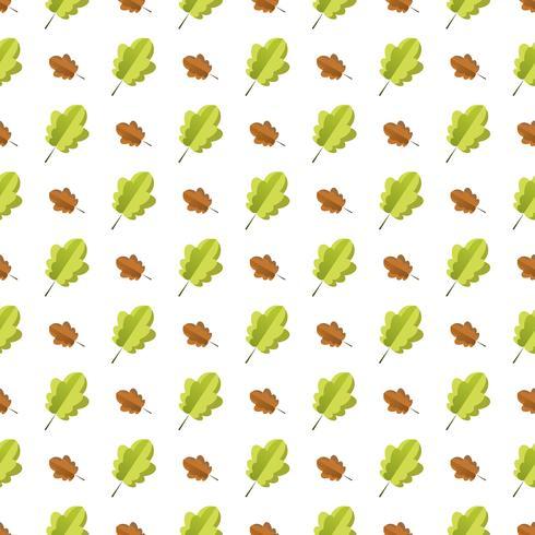 Padrão sem emenda com folhas de outono coloridas. vetor