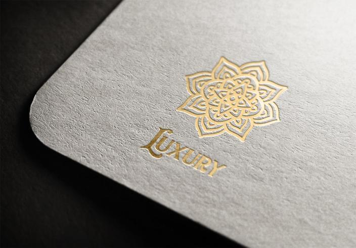 Mandala de luxo Logo Vector Design