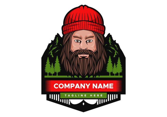 Distintivo de ilustração de montanha homem Vector