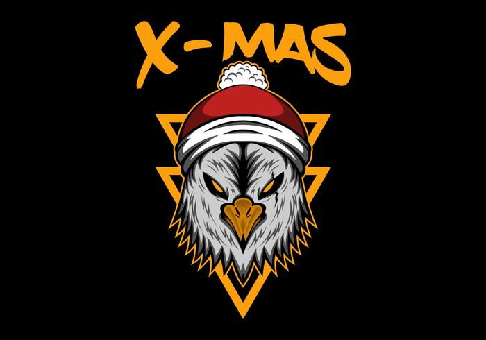 xmas feliz natal águia vetor