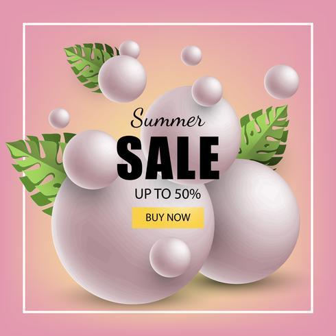 venda de banner de verão vetor