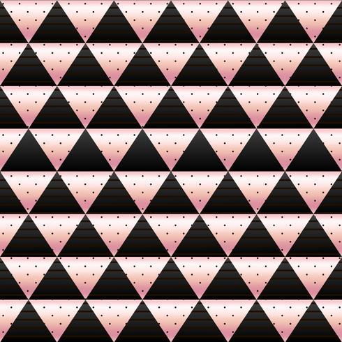 papel de parede de mosaico em ouro rosa e preto vetor