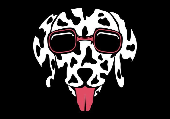 ilustração de vetor de óculos dálmata cachorro