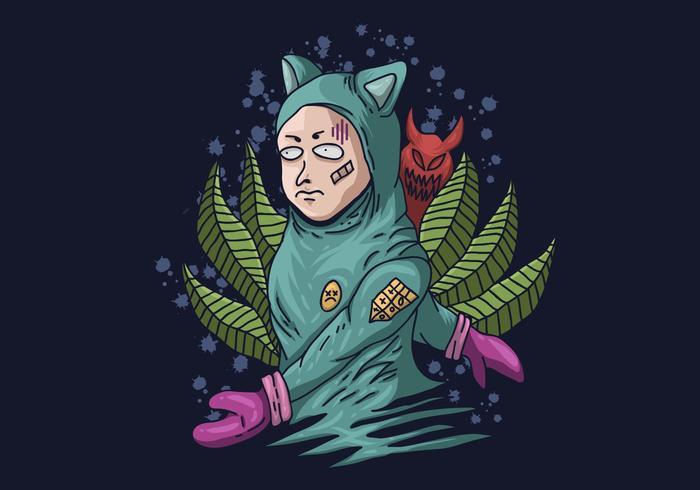 ilustração em vetor fantasma assustador