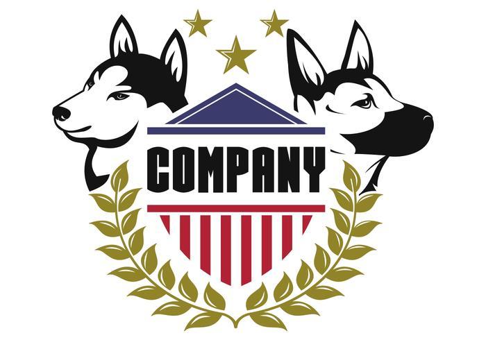 vetor de logotipo de cão de segurança