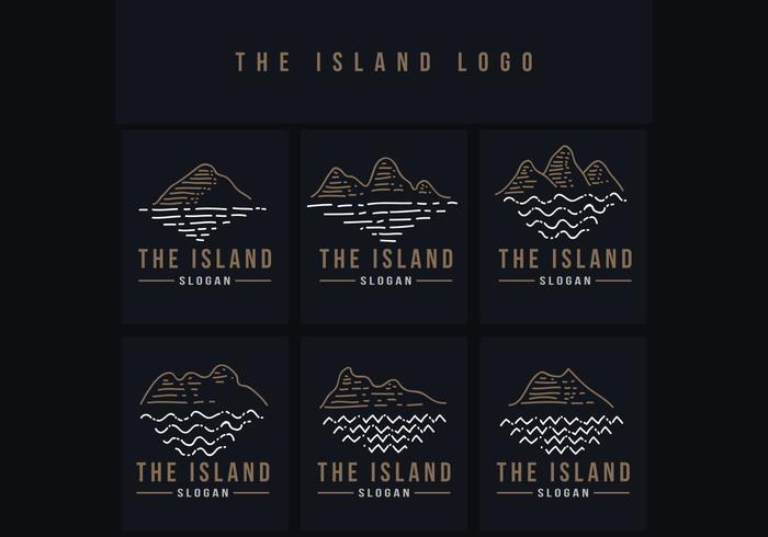 a ilustração em vetor logotipo ilha linha