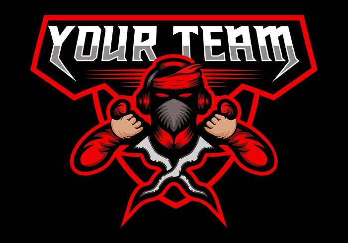 equipe de jogo kris esport mascote vetor