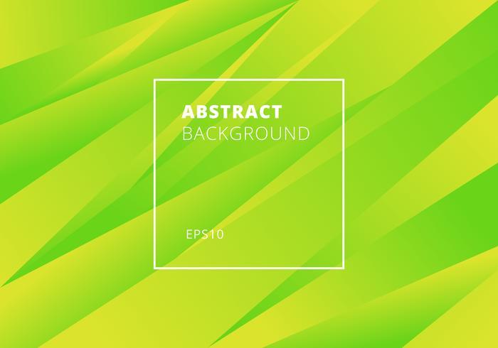 Estilo moderno abstrato do fundo verde e amarelo dos inclinações da cor. Movimento de sobreposição geométrica. vetor