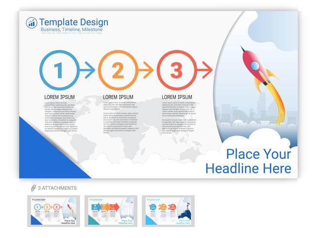 Vetor de modelo de site definido para apresentação de página ou design da página da web.