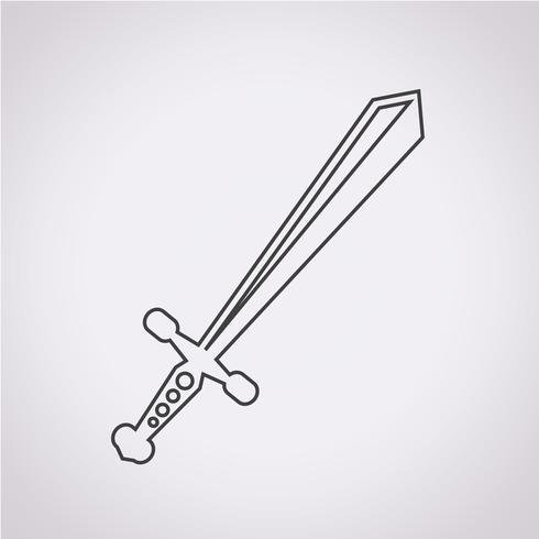 símbolo de espada ícone símbolo vetor