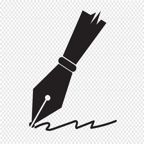 caneta ícone símbolo sinal vetor