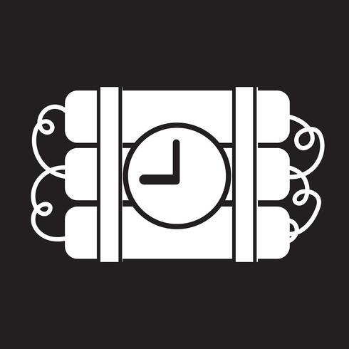 Sinal de símbolo de ícone de bomba vetor